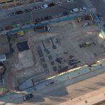 Espectacular vista aérea de la futura Parroquia San Manuel González en fase de cimentación